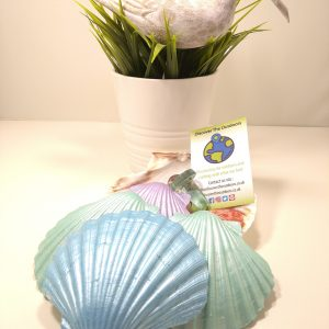 Decoupaged Scallop Shells