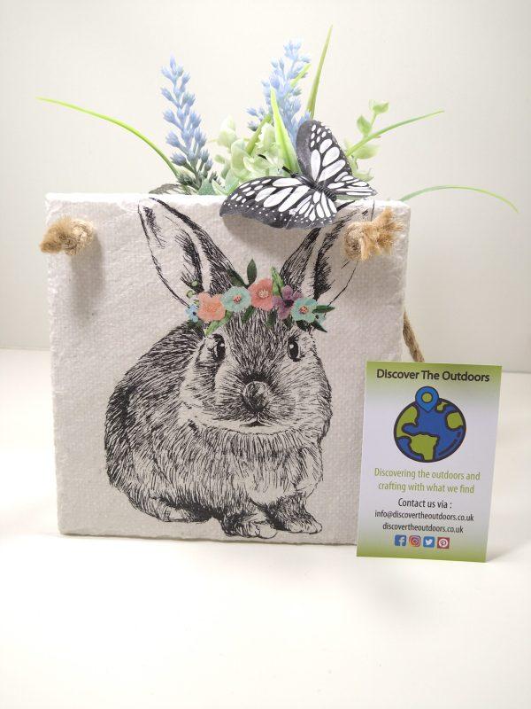 Bunny Hanging Slate