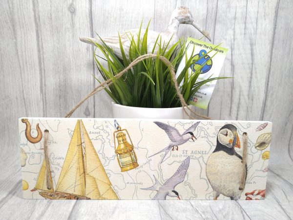 Puffin Hanging Wooden Sign
